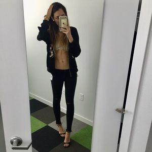 Rag and Bone ripped skinny jeans black